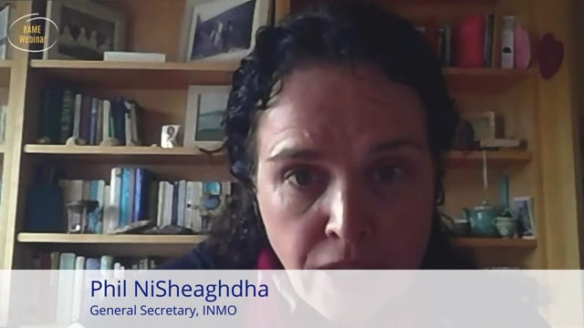 Phil NiSheaghdha, General Secretary, INMO - BAME Webinar
