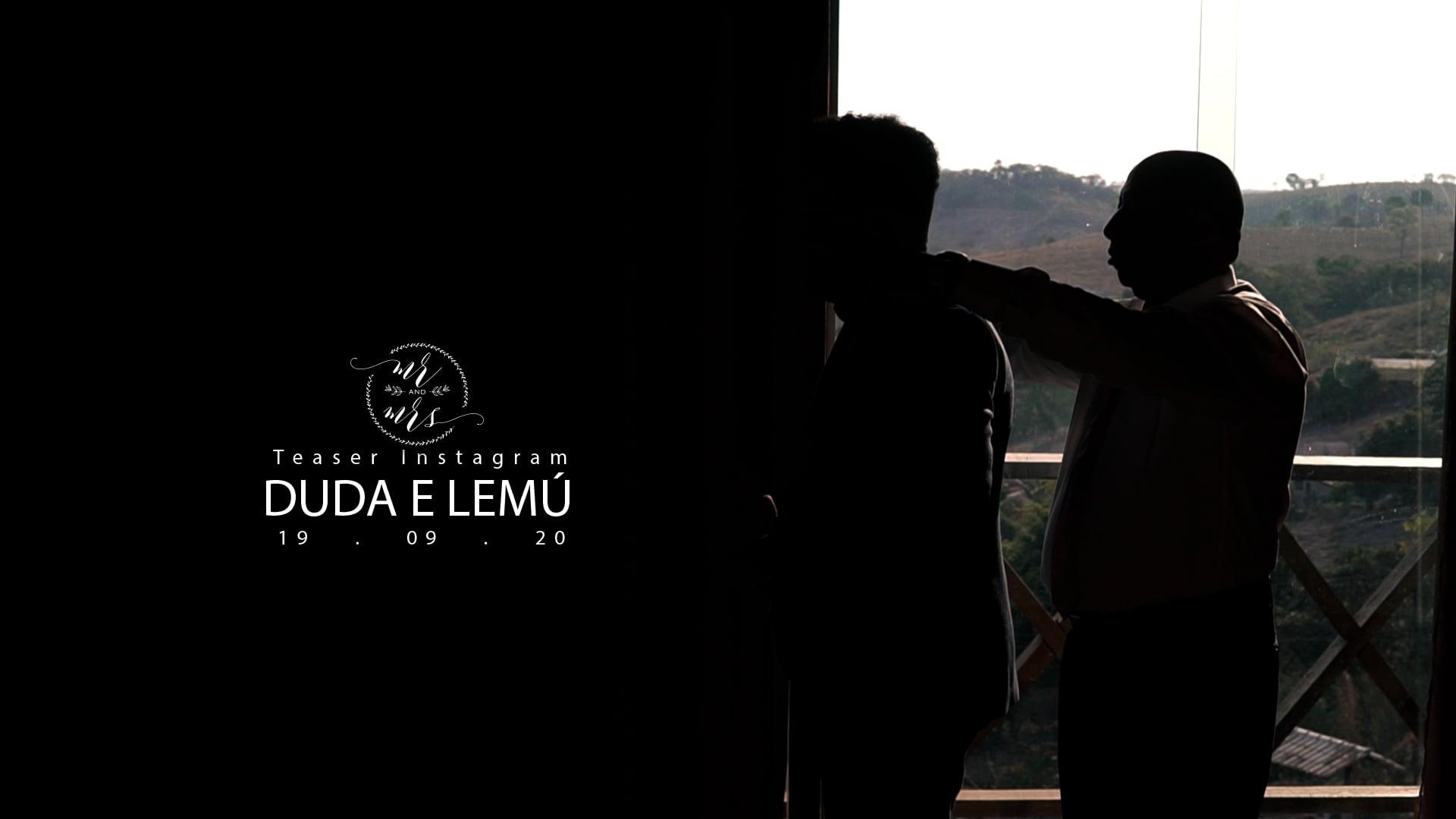 Teaser Instagram || Duda e Lemú