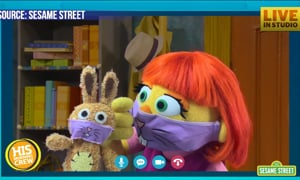 Sesame Street is doing it's best to help kids with Autism through the pandemic.