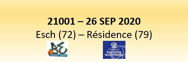 N1D 21001 Basket Esch (72) - Résidence Walferdange (79) 26/09/2020