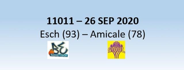 N1H 11011 Basket Esch (93) - Amicale Steesel (78) 26/09/2020