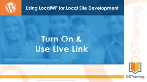 Turn On & Use Live Link