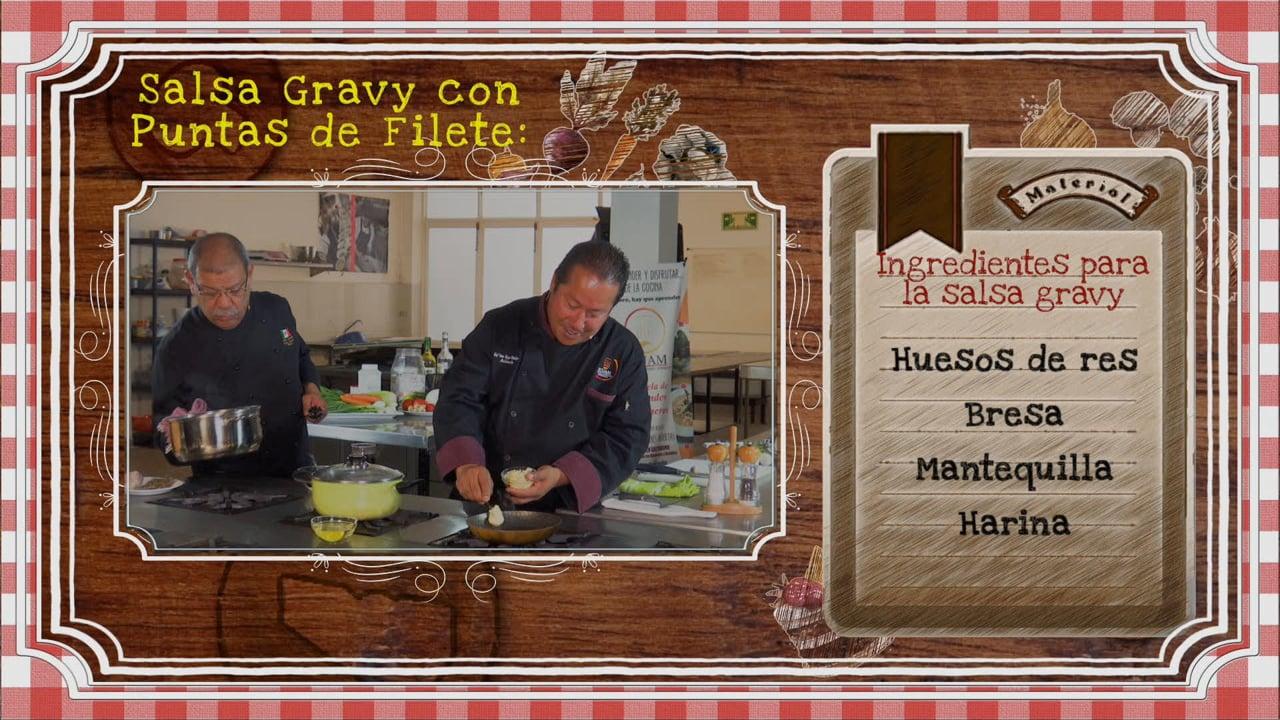 Salsa Gravy con Puntas de Filete