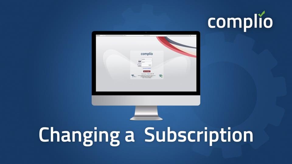 Complio Change Subscription