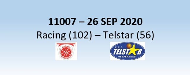N1H 11007 Racing Luxembourg (102) - Telstar Hesperange (56) 26/09/2020
