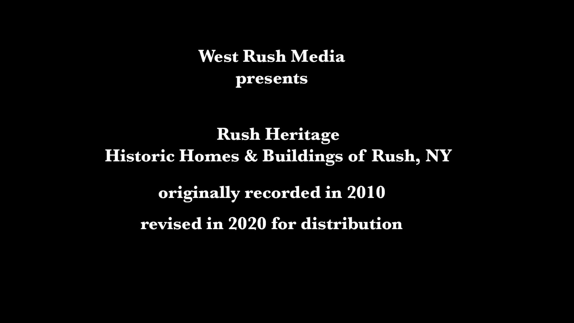 Rush Heritage 2010 revised in 2020