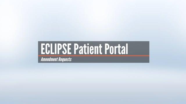 Patient Portal – Amendment Requests