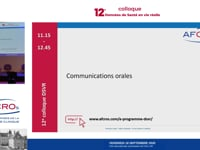 11.15-12.45 Communications orales