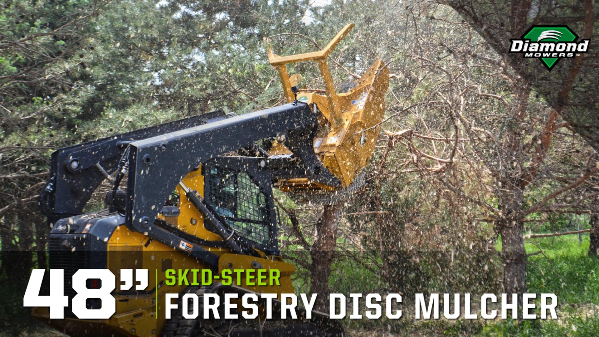 "Skid-Steer 48"" Forestry Disc Mulcher - Diamond Mowers"