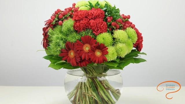 レッスン7 ハンドタイドブーケ: 半球型 グループ Lesson 7 Hand tied bouquet:  semi spherical shape on groups