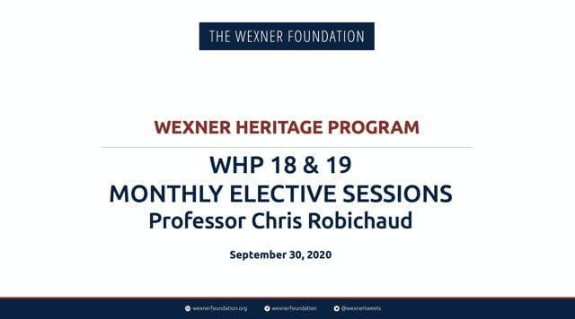 WHP 18 and 19 Elective Session 1