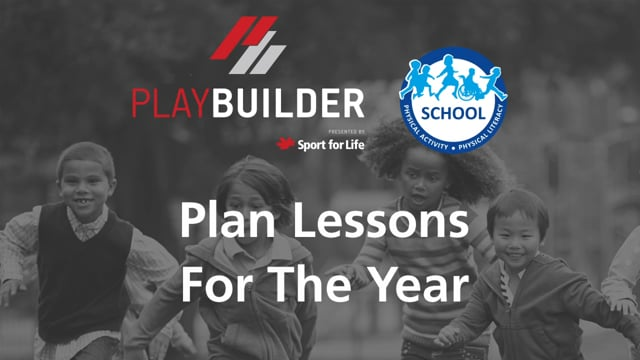 PLAYBuilder | Plan Lessons For The Year