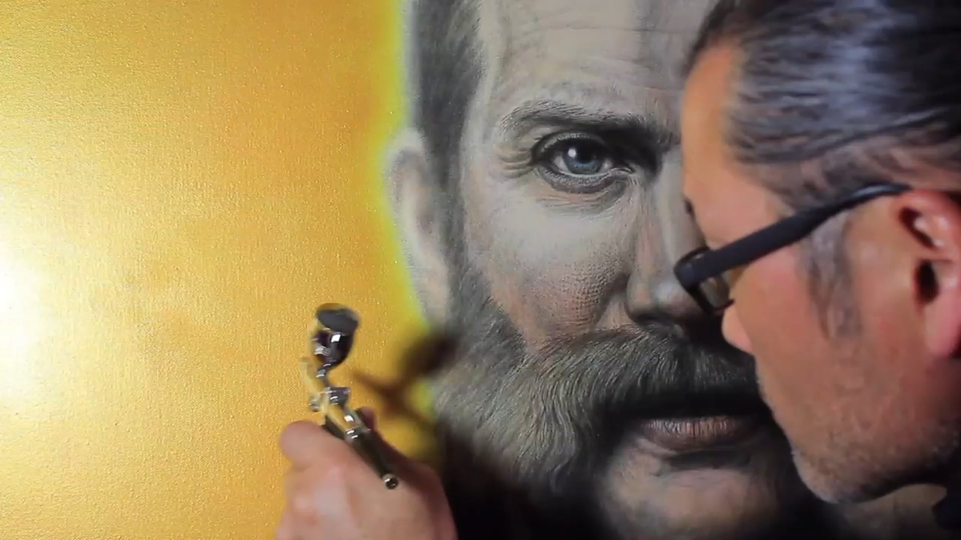 Portrait of Hardwicke Rawnsley   Acrylic Gold Application