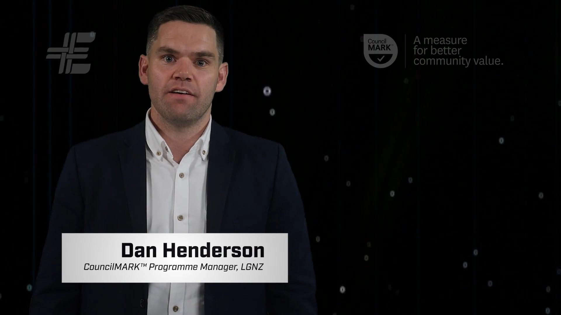 Dan Henderson, CouncilMARK™ Programme Manager, LGNZ