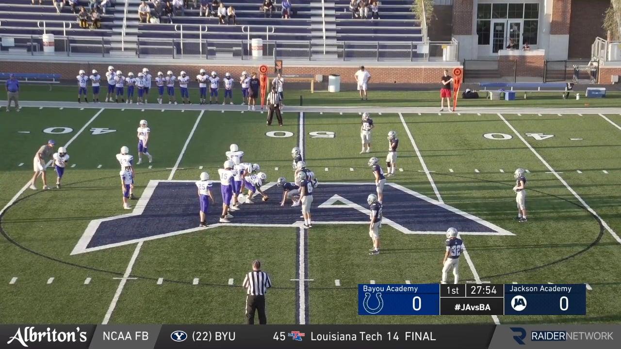 7th Grade Football vs Bayou Academy - 10-05-20