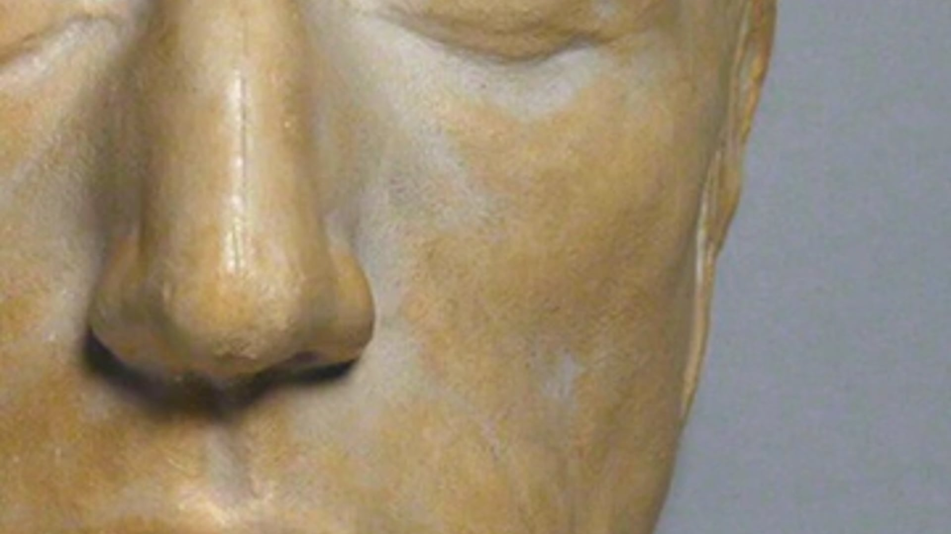 Portrait of William Wordsworth developed based on his life mask