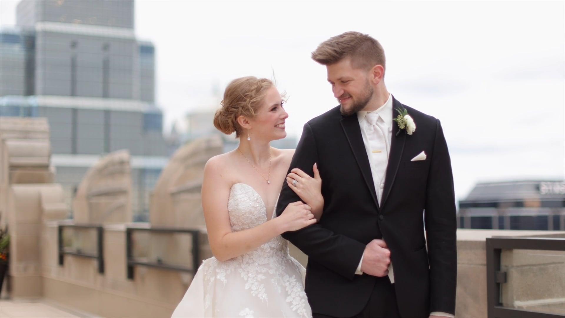 Dominique & Jarrod // Baysinger Films Wedding Videography // The Grand Hall Kansas City, MO