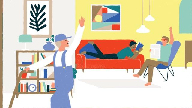 Étude de cas en vidéo explicative : l'abonnement aux meubles de Pabio pour un style de vie élégant
