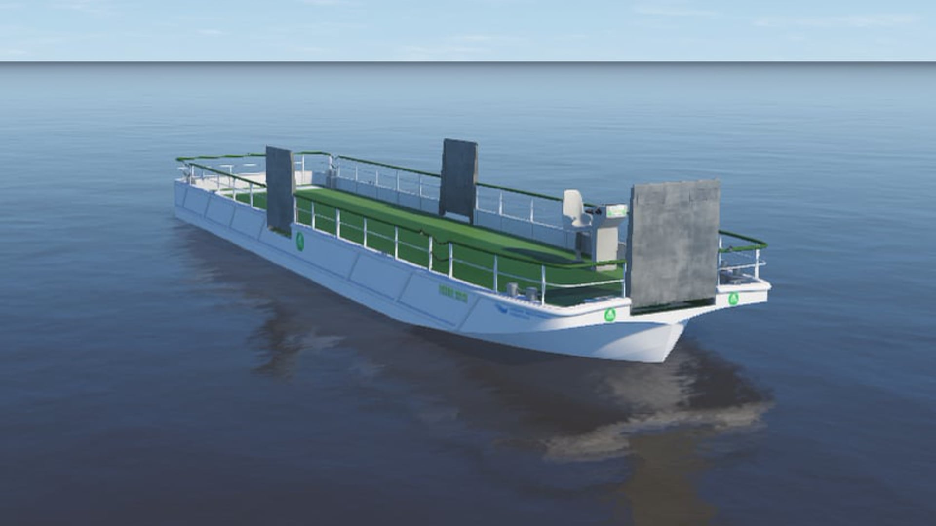 LIVE: A festive launch of the fully emission-free barge Green Wave