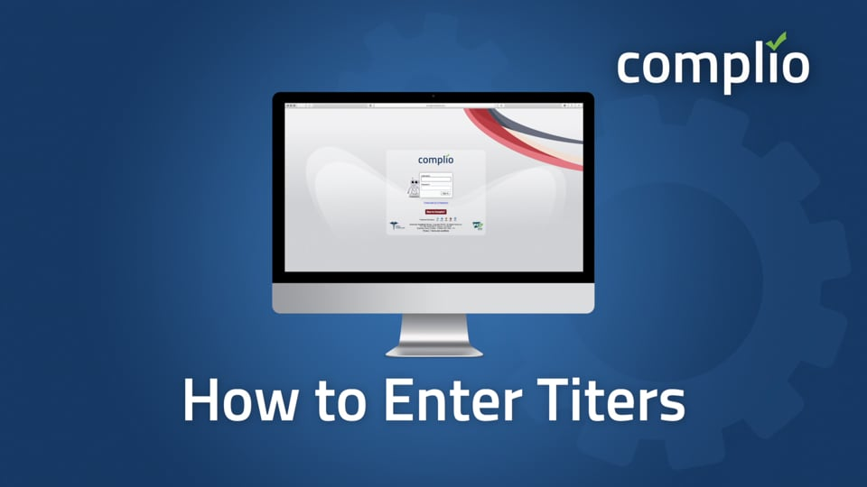 How to Enter Titers into Complio