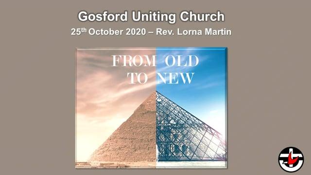 25th October 2020 - Rev. Lorna Martin