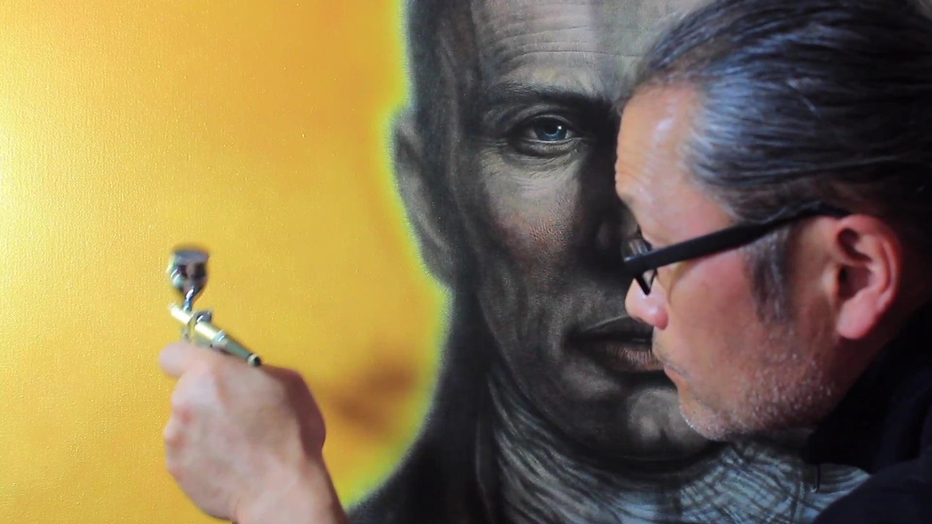 Portrait of William Wordsworth   Acrylic Gold Applicaiton