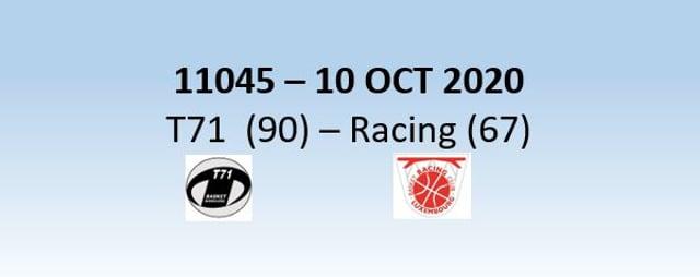 N1H 11045 T71 Dudelange (90) - Racing Luxembourg (67) 10/10/2020