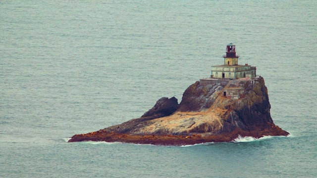Coastal Oregon, Distant Lighthouse - 4K HDR Video