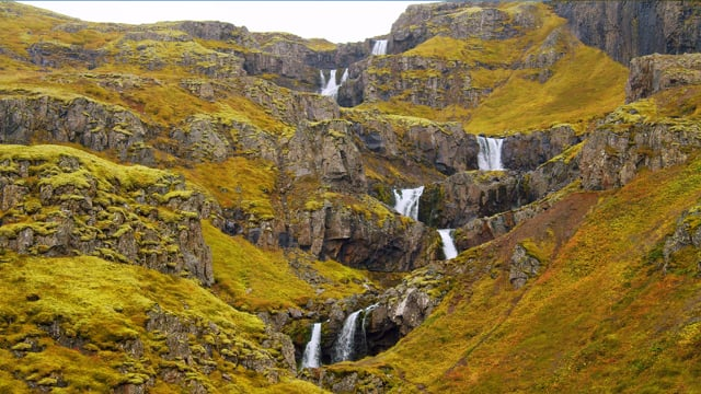 Breathtaking Waterfalls of Iceland. Part 7 - 4K HDR Video