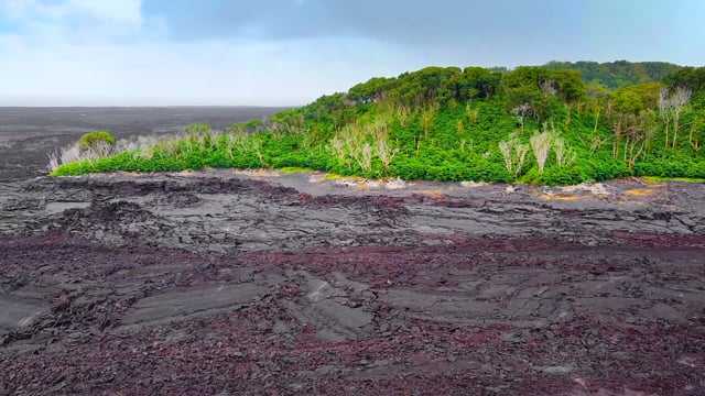 Bird's Eye View of the Big Island, Hawaii Part 2 - Incredible Lava Fields - Aerial Relax Video