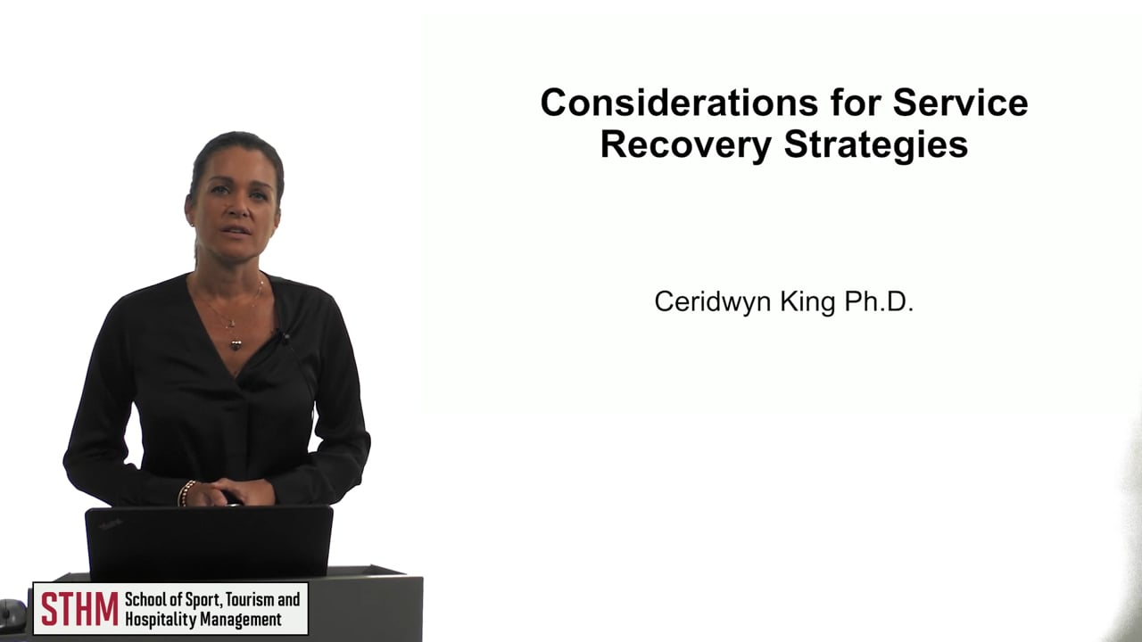 61867Considerations for Service Recovery Strategies