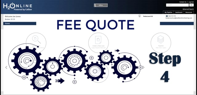 H2O Fee Quote