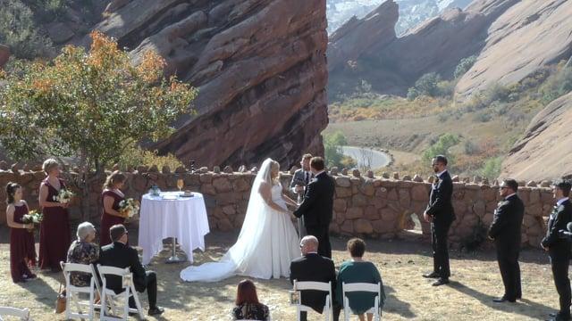 Ashlyn + Nathan - Wedding Ceremony - Redrocks, Golden CO - CO101020A