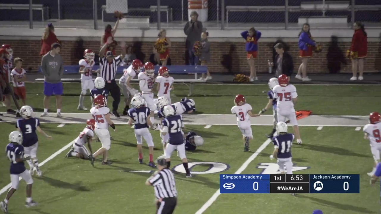 5th Grade Football vs Simpson - 10-13-20