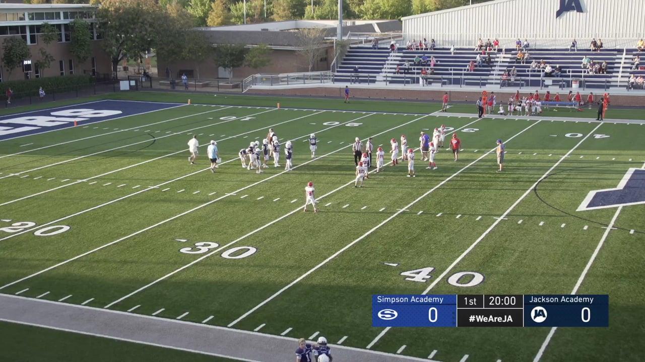 6th Grade Football vs Simpson - 10-13-20