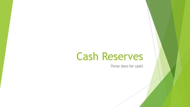 Cash Reserve Strategy