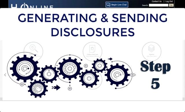 H2O Generate and Send Disclosures