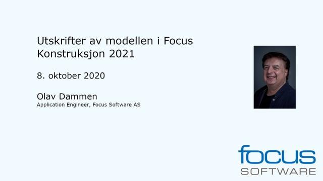 Utskrifter av modellen i Focus Konstruksjon 2021