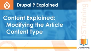 Modifying the Article Content Type