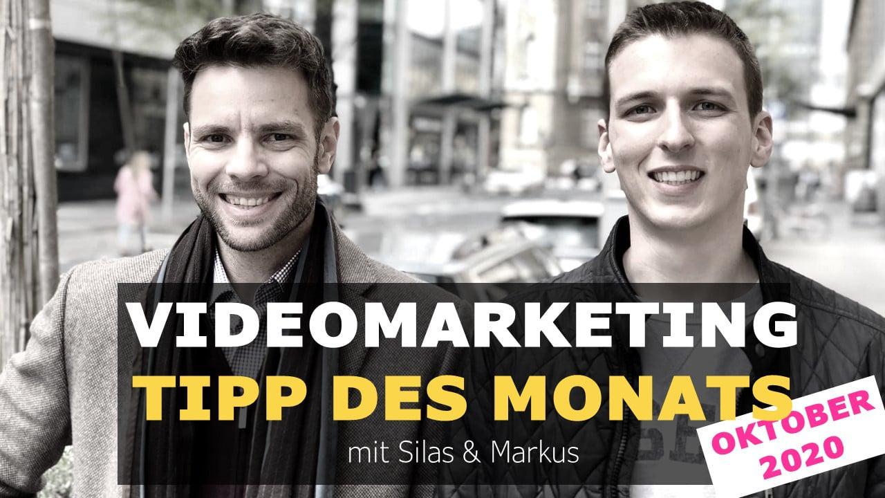 Liebe Unternehmen: Mut, Mut, Mut! Videomarketing Tipp des Monats Oktober mit Silas und Markus