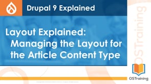 Managing the Layout for the Article Content Type