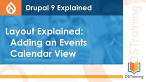 Adding an Events Calendar View