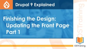 Finishing the Design: Updating the Front Page Part 1