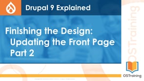 Finishing the Design: Updating the Front Page Part 2