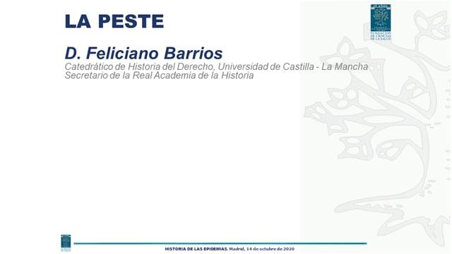 D. Feliciano Barrios - LA PESTE