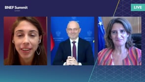 """Watch """"<h3>Michal Kurtyka, Minister for Climate, Poland & Teresa Ribera, Vice-President of the Government of Spain and Minister for the Ecological Transition and Demographic, Spain interviewed by Katherine Poseidon, Associate, EMEA Energy Transition, BloombergNEF</h3> <h3></h3>"""""""