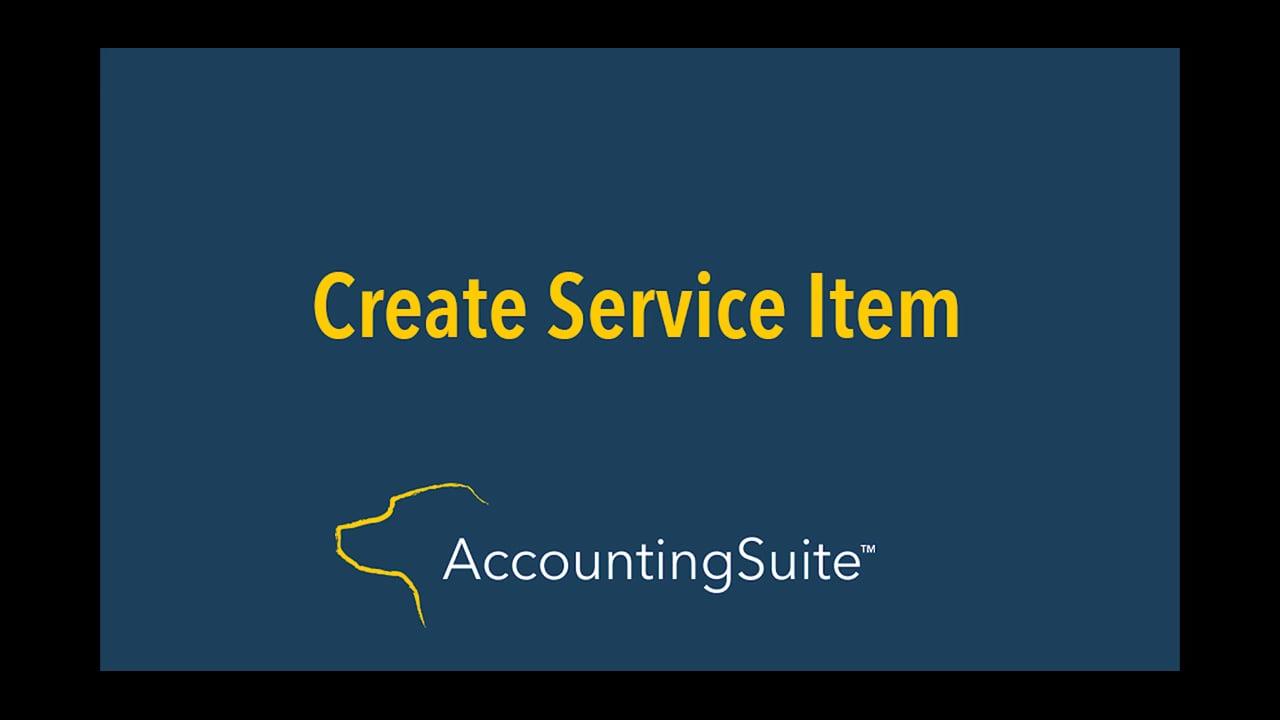 creating service item