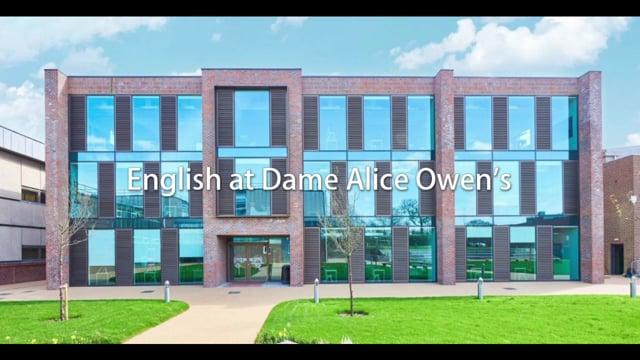 English - Dame Alice Owen's School