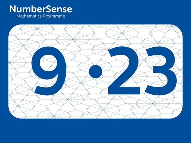 NumberSense Manipulating Numbers: Level 9, Task 23 (Gr.3, T.1, Wkbk 9)