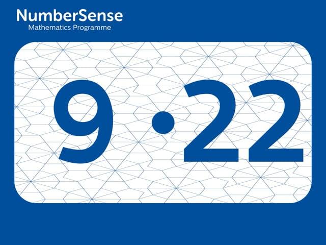 NumberSense Manipulating Numbers: Level 9, Task 22 (Gr.3, T.1, Wkbk 9)
